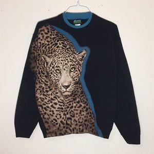 🔥Vintage 1990s Cheetah Sweatshirt